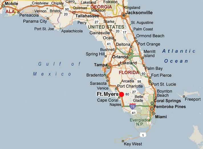 Fort Myers Map Florida Related Keywords Amp Suggestions